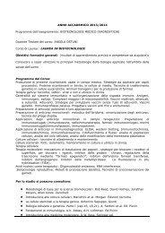 Biotecnologie Medico-diagnostiche - Università degli Studi della ...