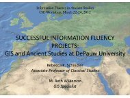Successful Information Fluency Projects: GIS and Ancient Studies at ...
