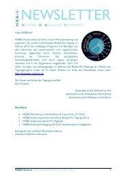 NOBIS Austria – Newsletter #6 (Winter 2011/2012) 1 Liebe ...