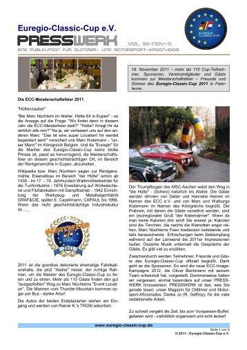 PRESSWERK Vol. 30-NOV-11 - Euregio-Classic-Cup