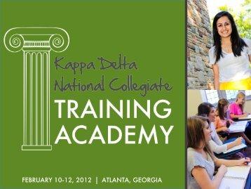 FEBRUARY 10-12, 2012 | ATLANTA, GEORGIA - Kappa Delta