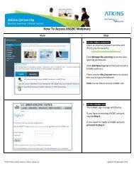 Job Aid - How To Access USGBC Webinars - Atkins University