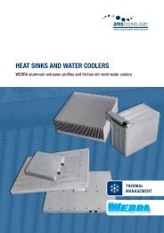 Heat sinks and water coolers - AMS Technologies