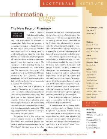 The New Face of Pharmacy - HIMSS Analytics