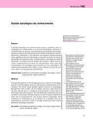 Gestão estratégica do conhecimento - FAE
