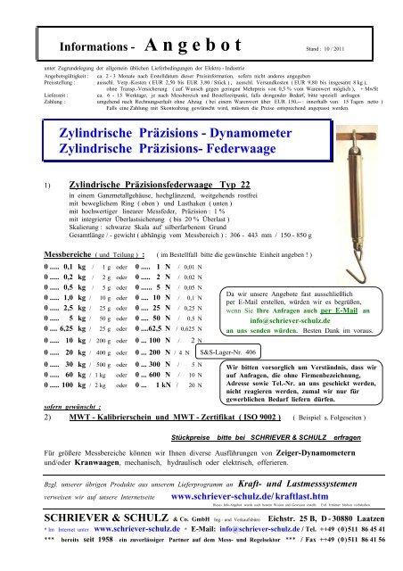 Zylindrische Präzisions - SCHRIEVER & SCHULZ & Co. GmbH