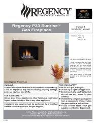 Regency P33 Sunrise™ Gas Fireplace