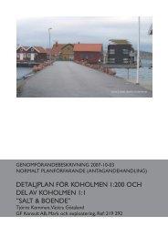 detaljplan för koholmen 1:200 och del av ... - Tjörns kommun