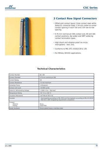 CSC Series 3 Contact Row Signal Connectors - Hypertac