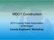 MDOT Update - Scott Greene, Jason Gutting - Michigan's Local ...