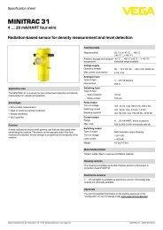 Specification sheet - MINITRAC 31 - Radiation-based ... - Insatech