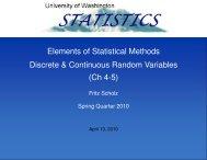 Discrete & Continuous Random Variables - Statistics
