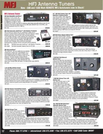MFJ Antenna Tuners - DX Engineering