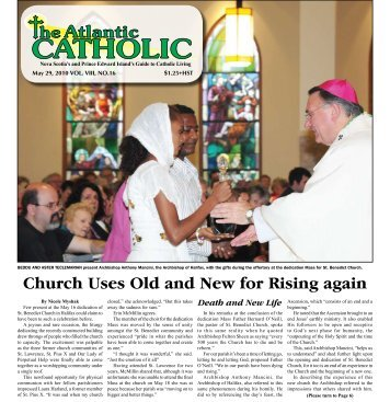 Church Uses Old and New for Rising again - Diocese of Antigonish