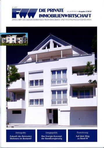 """Berichterstattung in der Zeitschrift """"Die private Immobilienwirtschaft"""""""