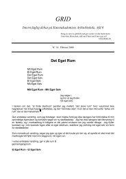 14.Det Eget Rum - Kunstakademiets Arkitektskole