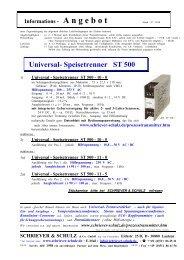 Speisetrenner ST 500 - SCHRIEVER & SCHULZ & Co. GmbH