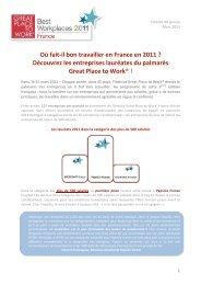 Où fait‐il bon travailler en France en 2011 - Great Place to Work ...