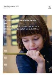 La escuela la formamos todos Información para los padres sobre la ...