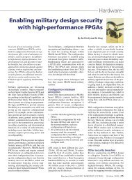 Enabling military design security with high-performance FPGAs