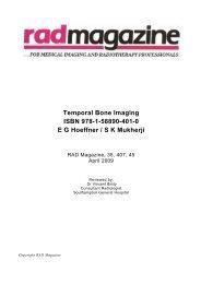 Temporal Bone Imaging ISBN 978-1-58890-401-0 ... - RAD Magazine