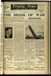THE SEEDS OF WAR - Trinity News Archive