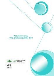 Populačný vývoj v Slovenskej republike 2011 - Infostat