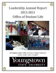 Developing Leaders Today To Leave A Legacy Tomorrow ... - YSU