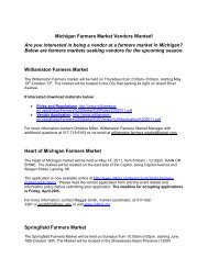 Michigan Farmers Market Vendors Wanted! Are you interested in ...