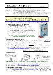 Simulator und -Kalibrator UPS II - SCHRIEVER & SCHULZ & Co ...