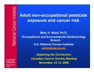 Adult non-occupational pesticide exposure and cancer risk