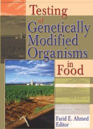 Testing of Genetically Modified Organisms in Foods, 2004