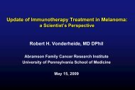 Update of Immunotherapy Treatment in Melanoma - Abramson ...