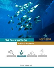 R&D Resources Cluster 5-year Strategic Plan - Campus do Mar