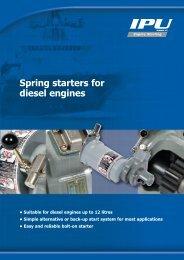 Spring starters for diesel engines - IPU Group