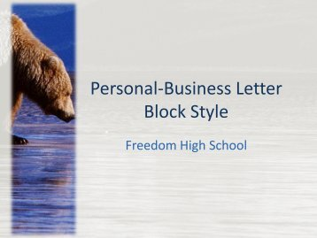 Personal-Business Letter Block Style - Mr. Behling's Web