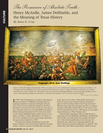 to view a pdf of the full article. - Houston History Magazine