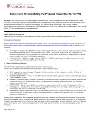 Instructions for Completing the Proposal Transmittal Form (PTF)