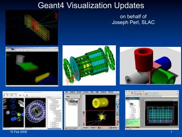 Geant4 Visualization Updates - X-ray Astronomy Group at ISAS