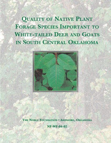 quality of native plant forage species important to white-tailed deer ...