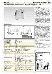 Raumtemperaturregler TRS - Belimo