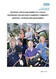 proposal for establishment of a social enterprise for nhs north ...