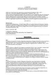 Regolamento per la formazione del Ruolo dei Periti e degli Esperti