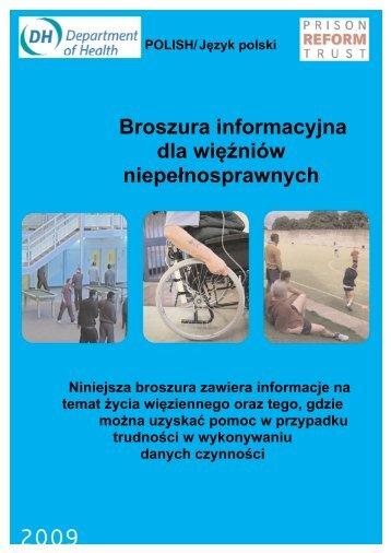 Broszura informacyjna dla więźniów niepełnosprawnych
