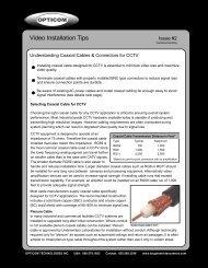 2. Coaxial Cables & Connectors for CCTV - Opticom