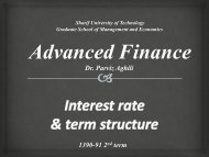 interest rate & term structure