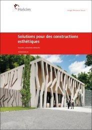 Solutions pour des constructions esthétiques (PDF, 6MB)