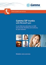 SIP trunking with Lync - Gamma Business Communications