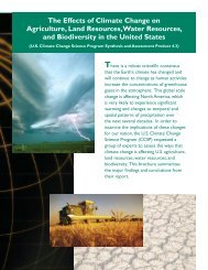 The Effects of Climate Change on Agriculture, Land Resources ...