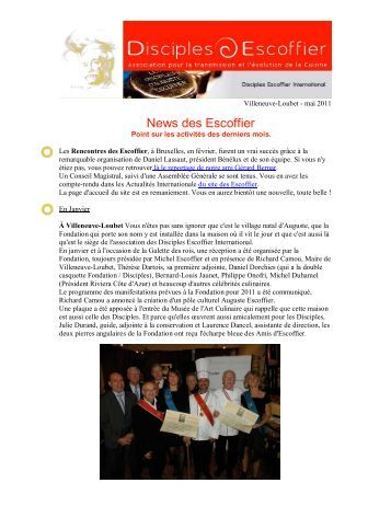 News des Escoffier - A Taste of France with Chef Michel